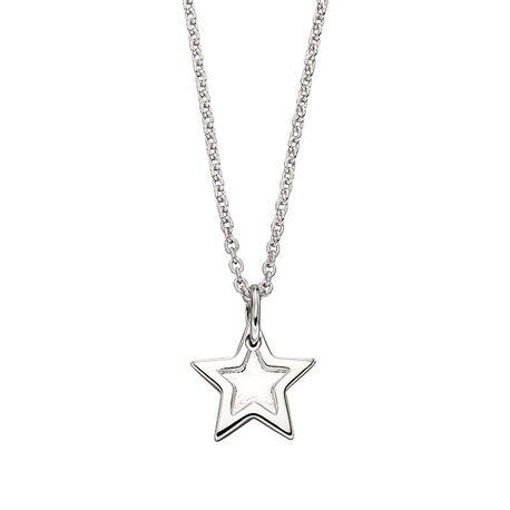 Little Star zilveren ster hanger Layla