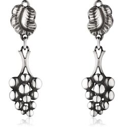 Georg Jensen oorclips zilver Moonlicht Grapes
