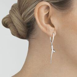 Georg Jensen lange zilveren oorbellen Mercy 10015150
