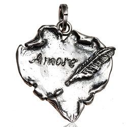 Zilveren hanger hart van perkament