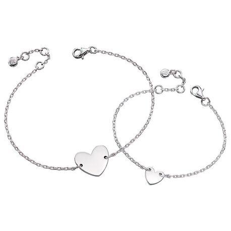 Little Star armbandjes Silver Heart