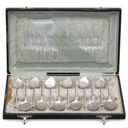antieke zilveren ijslepels Van Kempen 1900