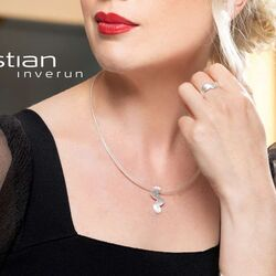 Bastian Inverun mat zilveren ring diamantjes 38201