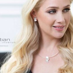 Bastian Inverun mat zilver hanger met diamantje 38181
