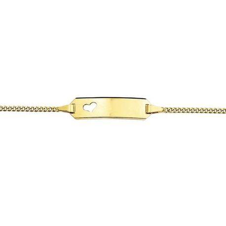 Gouden baby armbandje hartje met naam