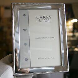 Zilveren fotolijst kabelrand wr4 13x18 van Carrs