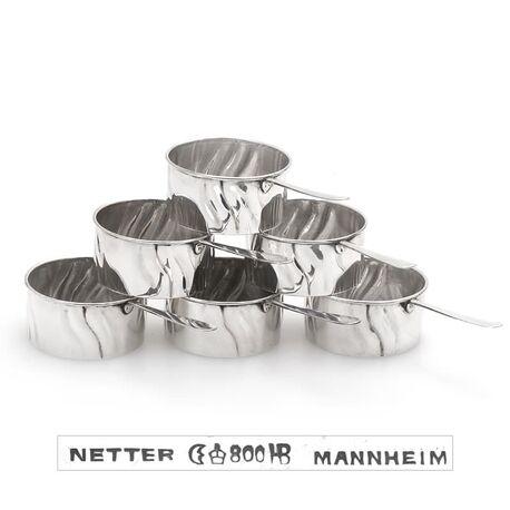 Leuke zilveren steelpannetjes gemaakt in Duitsland nu bij Zilver.nl