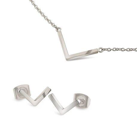 La Figura oorbellen en collier V-vorm van Boccia