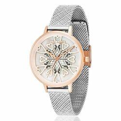 Julie Julsen bicolor horloge Heart Crystal Rosé