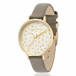 Julie Julsen horloge Petals goud grijze band
