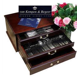 zilveren casette model prinses 12 persoons van Kempen