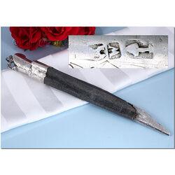 Antiek mes in schede met zilveren montuur