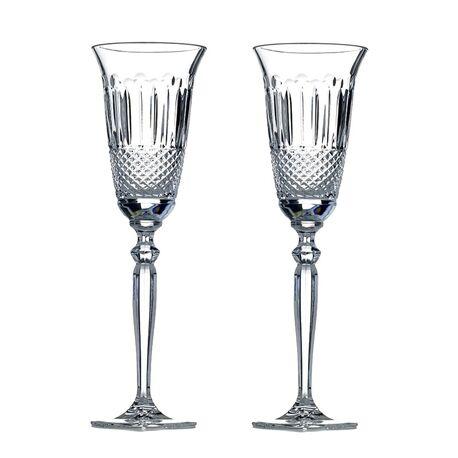 Tatiana Fabergé transparant kristallen flutes