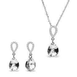 Spark set Pear Drops crystal