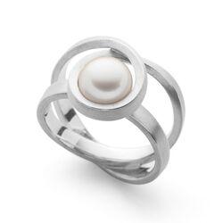 Bastian Inverun zilveren ring met zoetwaterparel