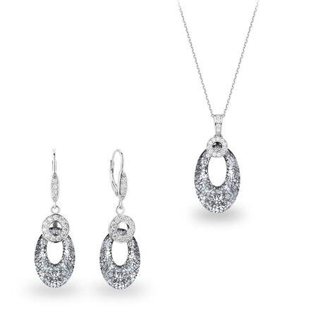 Zilver sieradenset Ellipsis met Swarovski van Spark
