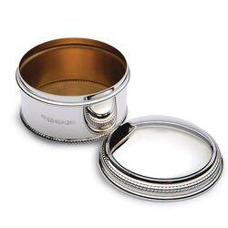 Zilveren doosje parelrand groot