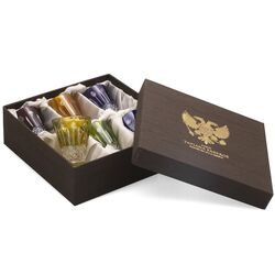 Tatiana Fabergé zes kristallen shotglaasjes multicolor
