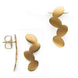 sieradenset hanger en oorbellen vergulde bladeren bastian Inverun