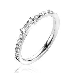Zinzi zilveren ring baguette zirkonia wit ZIR2133