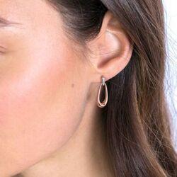 Zinzi oorbellen ZIO2125 zilver rose verguld