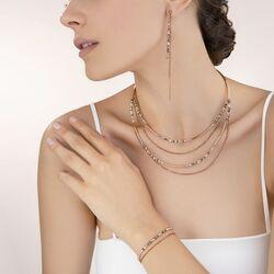 Coeur de Lion collier 5040-10-1200 Waterval rosé grijs