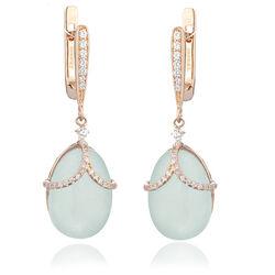 Maison Tatiana Fabergé sieradenset blauw jade met zirkoon