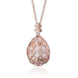 Tatiana Fabergé set roséverguld krul en ruit wit agaat
