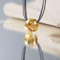 Bastian Inverun verguld zilveren hanger knot 38320 Zilver.nl