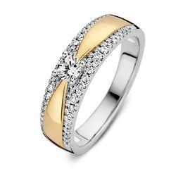 Bicolor gouden ring 0,40 ct
