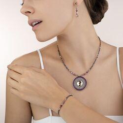 Coeur de Lion sieradenset Amulet rood lila grijs
