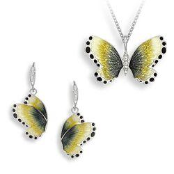 Nicole Barr set gele vlinders