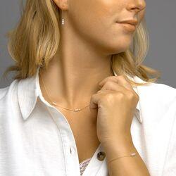 Geelgouden oorstekers pareltjes