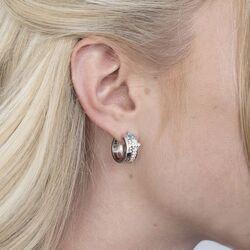 Zinzi zilveren oorringen blauw ZIO2012B