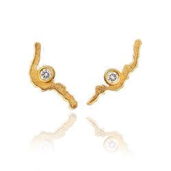 Lapponia gouden oorstekers Moonlit Eve 132895b
