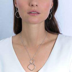 Zinzi zilveren oorhangers vierkanten ZIO2096G