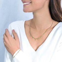 Zinzi verguld gourmet collier wit zirkonia ZIC2104Y
