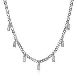 Zinzi zilveren gourmet collier zirkonia ZIC2104