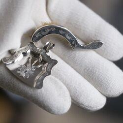 Miniatuur zilver stoffer en blik 19e eeuws Nijmegen Momm