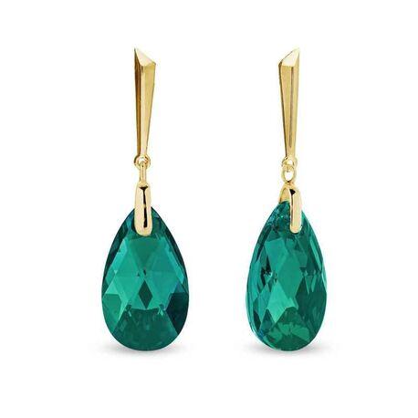 Spark oorbellen Lacrima Emerald