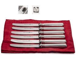 Antiek mes met een zilveren heft gemaakt door E. de Haas te Amsterdam rond 1850
