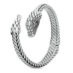 Stoere zilveren armband S22 van Silk slangenarmband topstuk nu bij Zilver.nl
