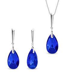 Spark Lacrima sieradenset blauw