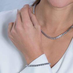 Zinzi zilveren fantasie schakel armband 19 cm ZIA2147