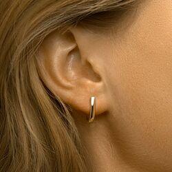 Geelgouden ovale oorringen 13,5 mm