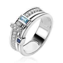 Zinzi blauw witte ring zirkonia ZIR2012B