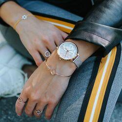 Julie Julsen rosé bicolor horloge levensboom wit