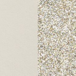 Les Georgettes 14 mm inlay creme glitters
