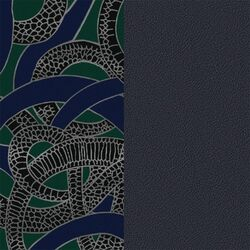 Les Georgettes 25 mm inlay snake navy blue