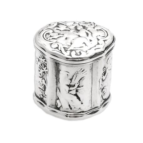 antiek zilveren doosje Christoffel Woortman Amsterdam 18e eeuw